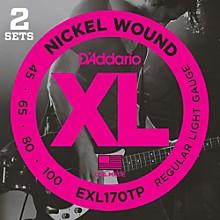 D'Addario EXL170TP Round Wound Bass Guitar Strings 2-Pack