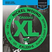 D'Addario EXL220-5 XL 5-String Bass Super Soft/Long String Set