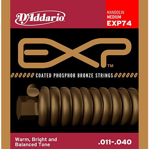 D'Addario EXP74 Coated Phosphor Bronze Medium Mandolin Strings-thumbnail