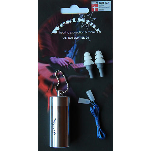 WestStar Earplugs ER 20 1 pair in Aluminum Case w/ cord