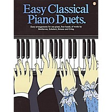 Music Sales Easy Classical Piano Duets Music Sales America Series Softcover