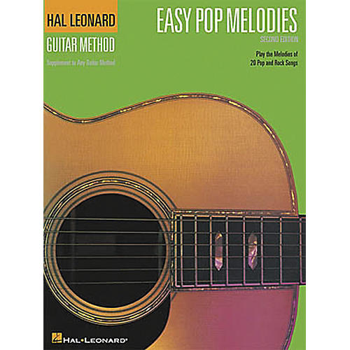 Hal Leonard Easy Pop Melodies - 2nd Edition Guitar Chord Songbook-thumbnail
