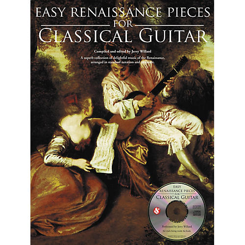 Music Sales Easy Renaissance Pieces For Classical Guitar (Book/CD)-thumbnail