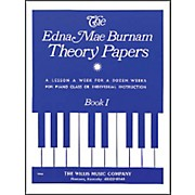 Willis Music Edna Mae Burnam Theory Papers Book 1 for Piano