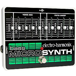 Electro-Harmonix Bass MicroSynth Effects Pedal (XOBASSMICROSYNTH)