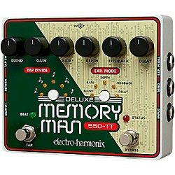 Electro-Harmonix Deluxe Memory Man Tap Tempo 550 Delay Guitar Effects Pedal (MMTT550)