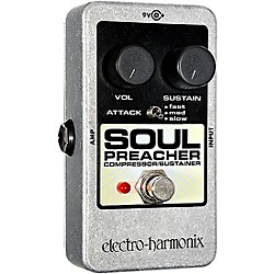 Electro-Harmonix Nano Soul Preacher Compressor / Sustainer Guitar Effects Pedal (NANOSOULPREACHER)