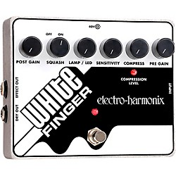 Electro-Harmonix White Finger XO Compressor Guitar Effects Pedal (WHITEFINGERXO)