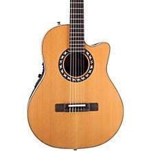 Ovation Elite AX Mid-Depth Cutaway Acoustic-Electric Nylon String Guitar
