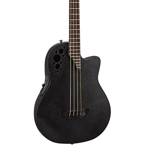 Ovation Elite TX Mid Depth Acoustic-Electric Bass Black