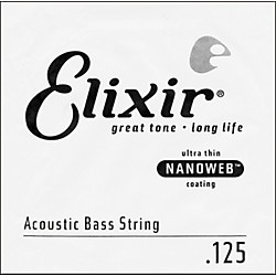 Elixir Nanoweb .125 Single Acoustic Bass String (15825)