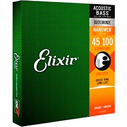 Elixir Nanoweb Light Acoustic Bass Strings (14502)