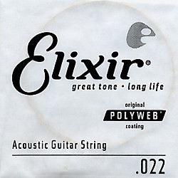 Elixir Polyweb .022 Acoustic Guitar String 4-Pack Singles (13122)