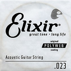 Elixir Polyweb .023 Acoustic Guitar String 4-Pack Singles (13123)