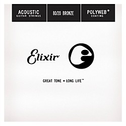 Elixir Polyweb .024 Acoustic Guitar String 4-Pack Singles (13124)