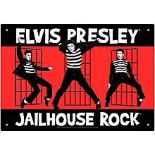Hal Leonard Elvis Jailhouse Tin Sign