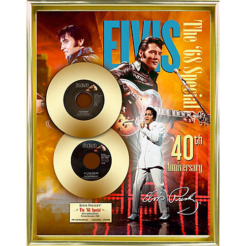 24 Kt. Gold Records Elvis Presley - 68 Special 40th Anniversary Gold 45 Limited Edition of 2008-thumbnail