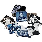Vandor Elvis Presley 10pc. Coaster set w/ collector tin