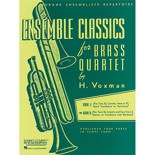 Hal Leonard Ensemble Classics Series Brass Quartets Vol 2 Two Cornets, Trombone, And 2nd Trombone