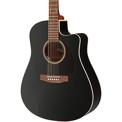 Seagull Entourage CW Black GT QIT Acoustic-Electric Guitar Black