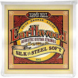 Ernie Ball 2045 Earthwood 80/20 Bronze Silk and Steel Soft Acoustic Guitar Strings (P02045)