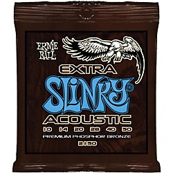 Ernie Ball 2150 Extra Slinky Phosphor Bronze Acoustic Guitar Strings (P02150)