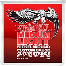 Ernie Ball 2206 Nickel Wound Medium Light Slinky Electric Guitar Strings (P02206)