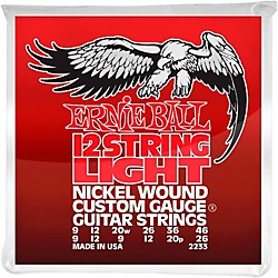 Ernie Ball 2233 Nickel 12-String Light Electric Guitar Strings (P02233)