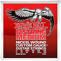 Ernie Ball 2236 Nickel 12-String Medium Electric Guitar Strings (P02236)