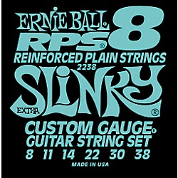 Ernie Ball 2238 Extra Slinky RPS 8 Electric Guitar Strings (P02238)