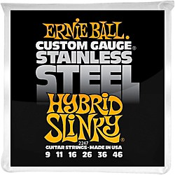 Ernie Ball 2247 Hybrid Slinky Guitar Strings Stainless Steel (P02247)