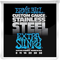 Ernie Ball 2249 Extra Slinky Stainless Steel Guitar Strings (P02249)