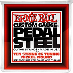 Ernie Ball 2501 10-String C6 Pedal Steel Guitar Strings (P02501)