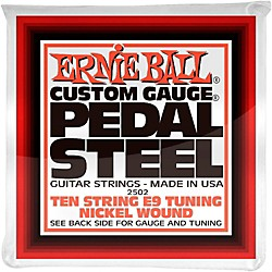 Ernie Ball 2502 10-String E9 Pedal Steel Guitar Strings (P02502)