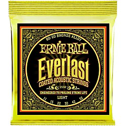 Ernie Ball 2558 Everlast 80/20 Bronze Light Acoustic Guitar Strings (P02558)
