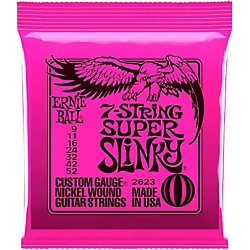 Ernie Ball 2623 Super Slinky 7-String Electric Guitar Strings (P02623)