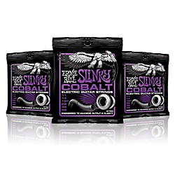 Ernie Ball 2720 Cobalt Power Slinky Electric Guitar Strings - 3 Pack (P02720-3P)