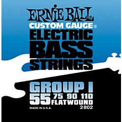 Ernie Ball 2802 Flat Wound Group I Electric Bass Strings (P02802)
