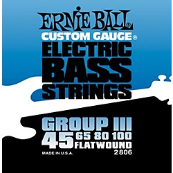 Ernie Ball 2806 Flat Wound Group III Electric Bass Strings (P02806)