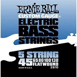 Ernie Ball 2810 Flatwound 5-String Bass Strings Set (P02810)