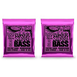 Ernie Ball 2831 Slinky Round Wound Power Bass Strings 2 Pack (KIT871190)