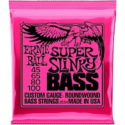 Ernie Ball 2834 Super Slinky Roundwound Bass Strings (P02834)