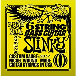 Ernie Ball 2837 Slinky Silhouette Short-Scale 6-String Bass Strings (P02837)