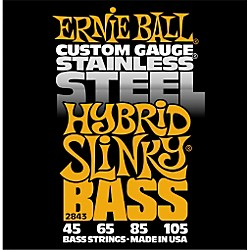 Ernie Ball 2843 Hybrid Slinky Stainless Steel Bass Strings (P02843)