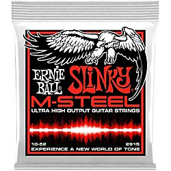 Ernie Ball 2915 M-Steel Skinny Top Heavy Bottom Electric Guitar Strings (P02915)