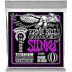 Ernie Ball 3120 Coated Titanium Power Slinky Electric Guitar Strings (3120)