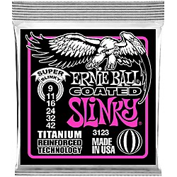 Ernie Ball 3123 Coated Super Slinky Electric Guitar Strings (3123)