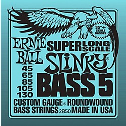 Ernie Ball 5-string Slinky Bass Strings Super Long Scale (2850)