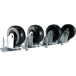Ernie Ball Amp Caster Standard Plate Mount Set of 4 (6101)
