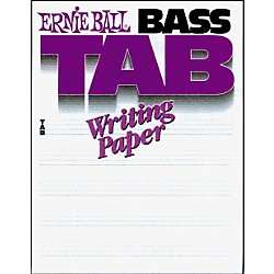Ernie Ball Bass Tab Writing Paper (P07022)